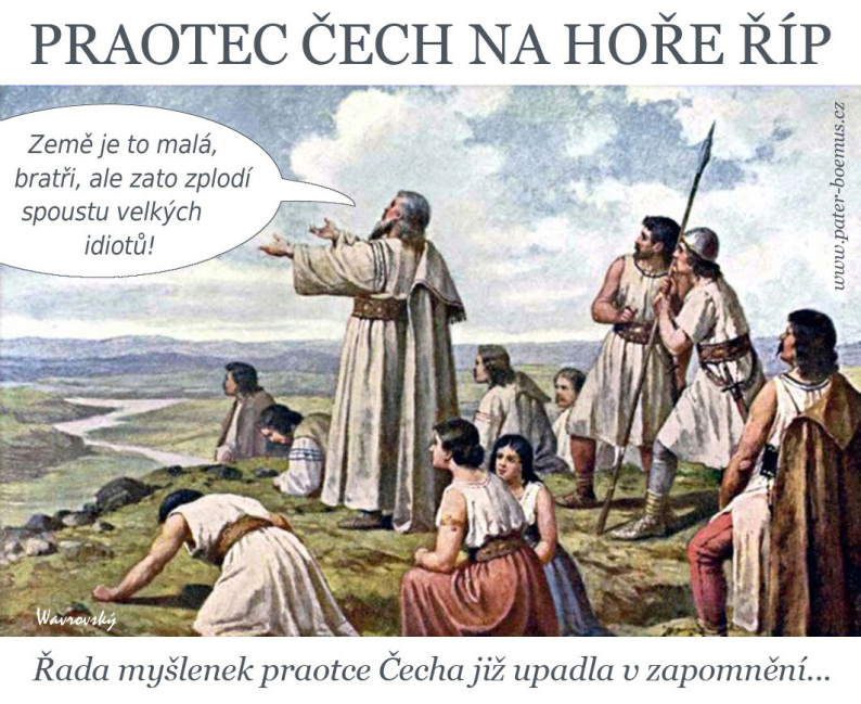 Pater Boemus, humoristicko-vzdělávací magazín, Wavrovský, Společnost bratranců Veverkových, praotec Čech na hoře Říp, zde sídla zarazíme, Mathauser