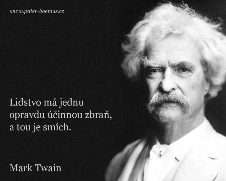 Pater Boemus, humoristický vzdělávací magazín, Mark Twain, Společnost bratranců Veverkových, Lidstvo má účinnou zbraň, Human race