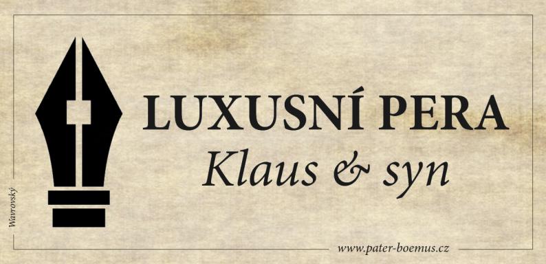 Pater Boemus, humoristický vzdělávací magazín, Wavrovský, Společnost bratranců Veverkových, Klaus junior, luxusní pera