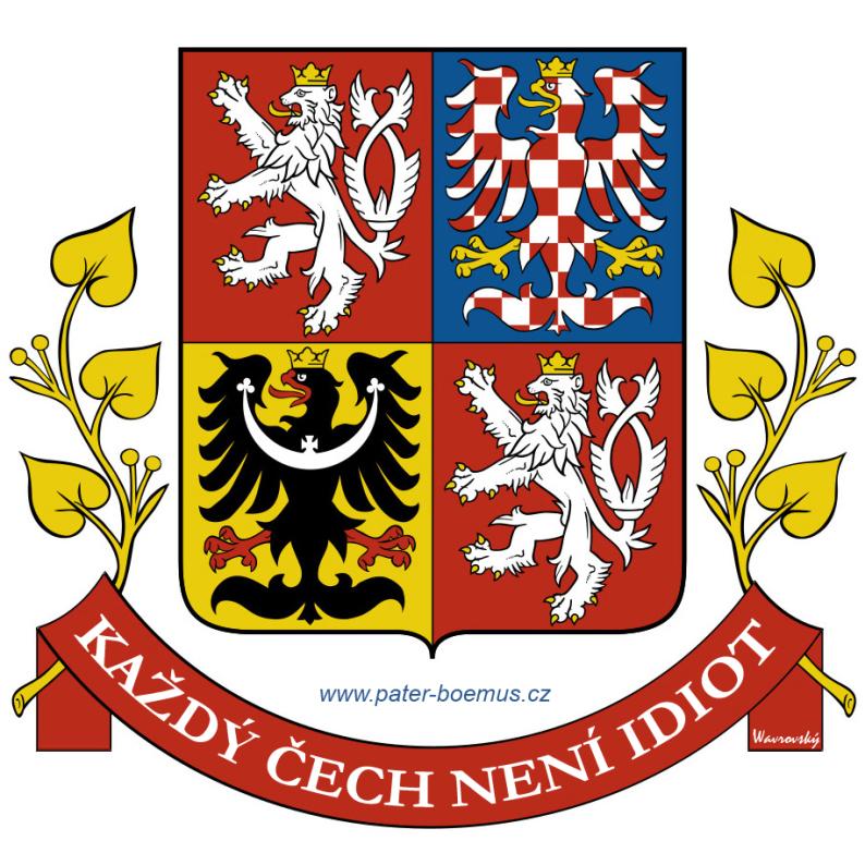 Pater Boemus, humoristický vzdělávací magazín, Wavrovský, Společnost bratranců Veverkových, praotec Čech, každý Čech není idiot, vlajka prezidenta, standarta