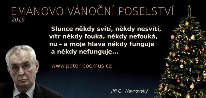 Pater Boemus, humoristický vzdělávací magazín, Wavrovský, Společnost bratranců Veverkových, vánoční poselství, slunce někdy svítí někdy nesvítí, vítr někdy fouká