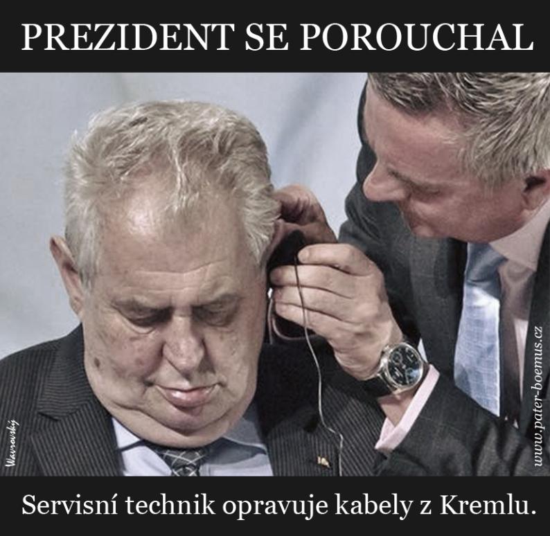 Pater Boemus, humoristicko vzdělávací magazín, Wavrovský, prezident se porouchal, nápověda z Kremlu, noty, zdravotní stav prezidenta
